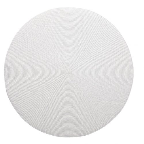Round White Placemats - Set of 2