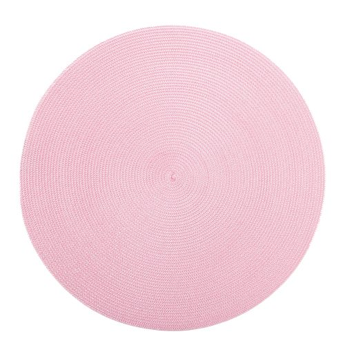 Round Ivory/Pink Placemat - Set of 2