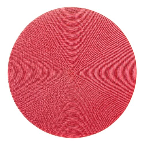 Round Rose/Red Placemats - Set of 2