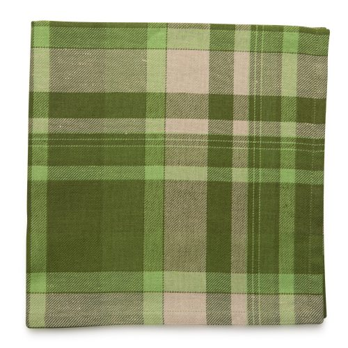 Tonal Plaid Green Combo Napkin - Set of 2