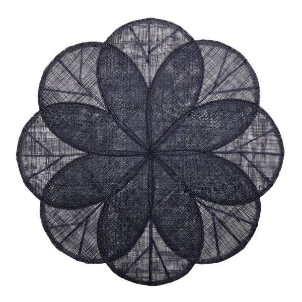 Sinamay Flower Navy Placemats - Set of 2