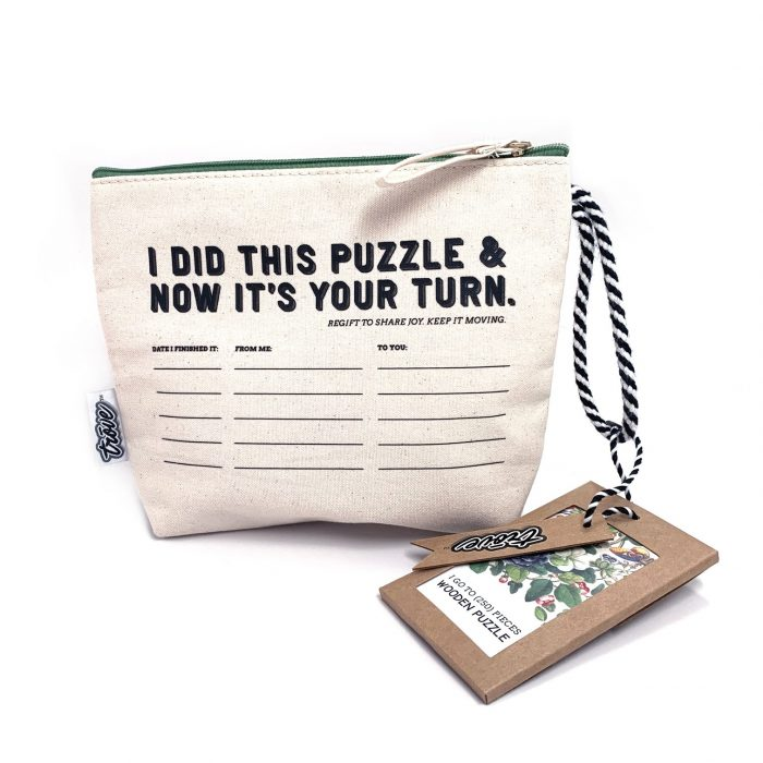 I Go To Pieces Vintage Botanicals in Pass-It-On Pouch 250 Wooden Piece Jigsaw Puzzle
