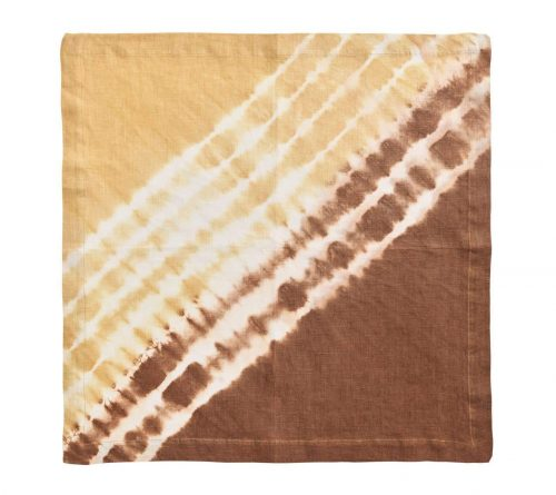 Duo Dye Natural & Brown Napkin - Set of 2