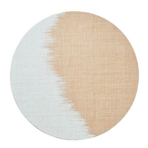 Brushstroke Natural/White Placemat - Set of 2