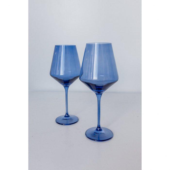 Estelle Colored Glass - Cobalt Blue - Set of 2