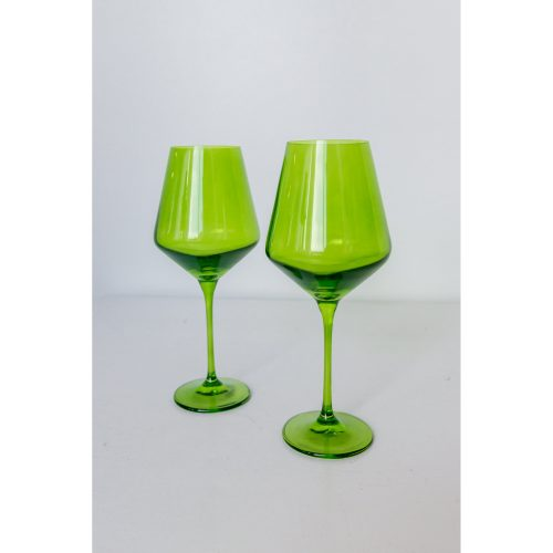 Estelle Colored Glass - Forest Green - Set of 2