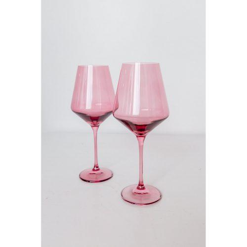 Estelle Colored Glass - Rose - Set of 2