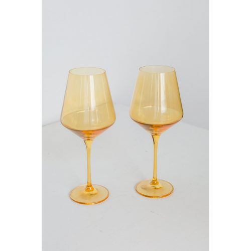 Estelle Colored Glass - Yellow - Set of 2