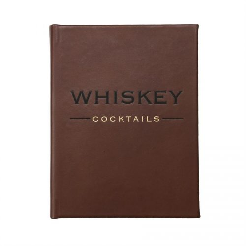 Whiskey Cocktails Brown Bonded Leather - Book