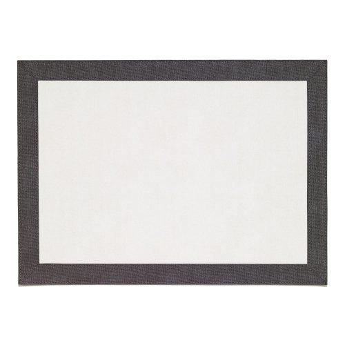 Bordino White Charcoal Rectangle Placemat - Set of 2