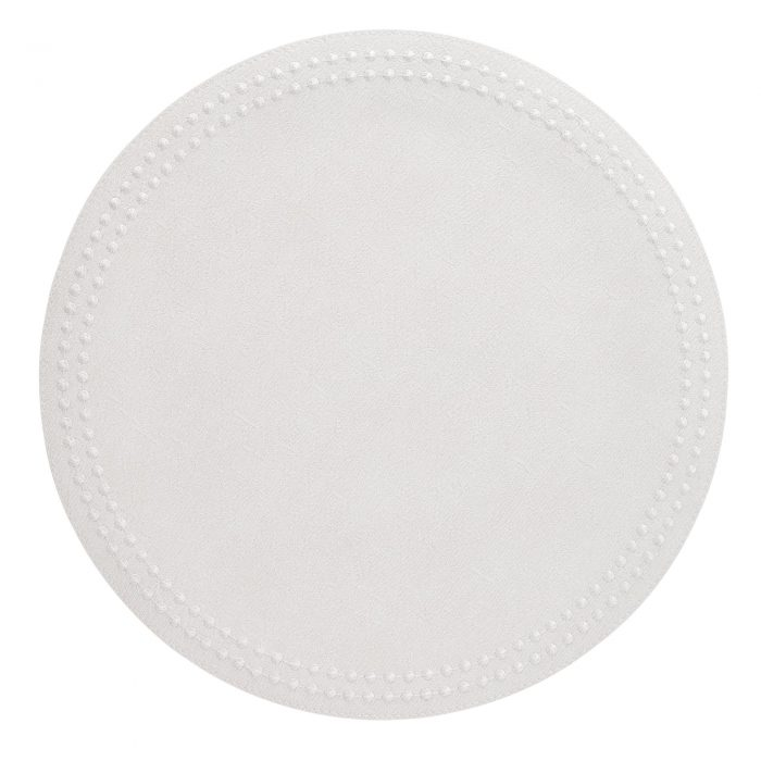 Round Pearls Antique White & White Placemat - Set of 2