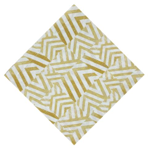 Tile Yellow Napkin - Set of 2