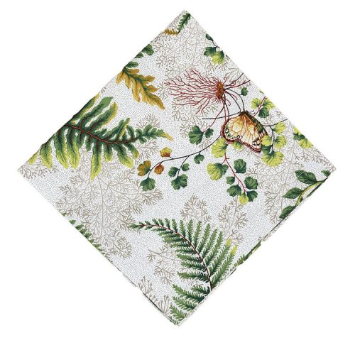Tropical Green and Ivory Cotton Napkin - Set of 2