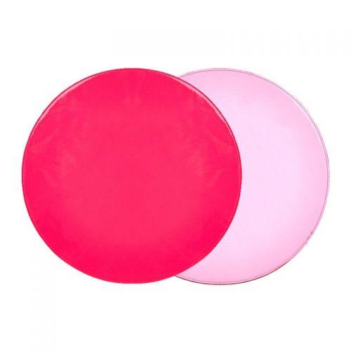 Reversible Metallic Pink and Hot Pink Round Placemat - Set of 2