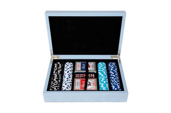 Shagreen Poker Set - 200 Chips, 2 Decks, and 5 dice
