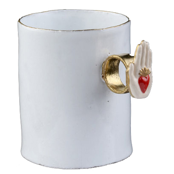Astier De Villatte Heart On Hand Ring Cup2