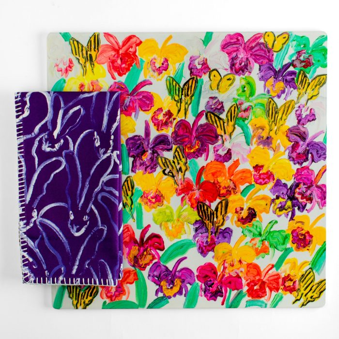 Hunt Slonem-Butterfly Garden Square Lacquered Placemat