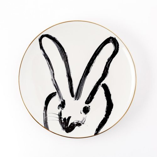 Hunt Slonem-Rabbit Run White Dinner Plate
