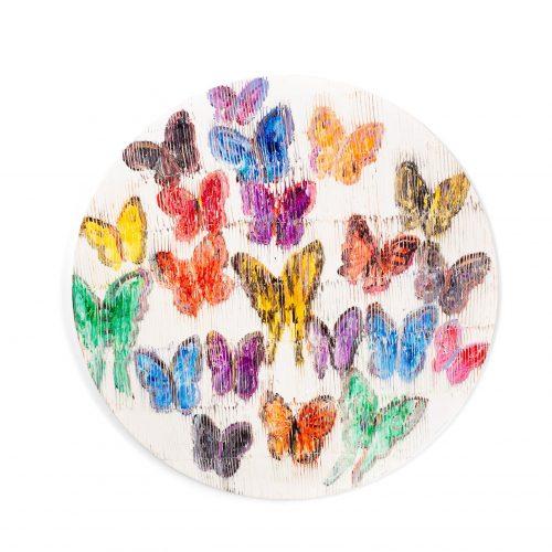 Hunt Slonem-Spring Butterflies Lacquered Placemat