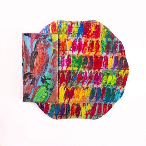 Hunt Slonem-Rainbow Lories Lacquered Placemat