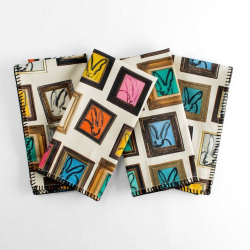 Hunt Slonem-Hunt's Studio Cotton Napkin