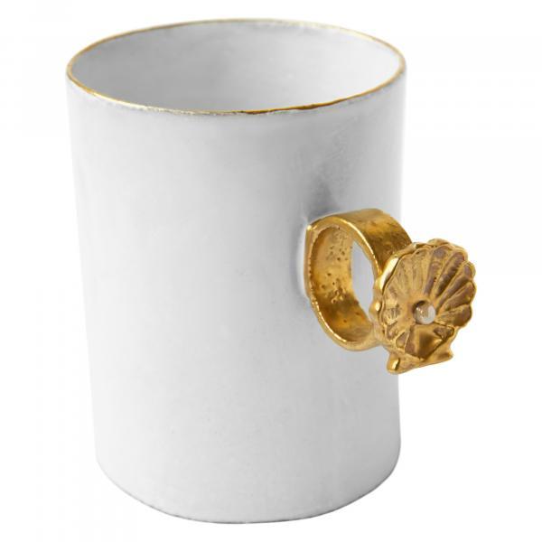 Astier De Villatte Shell Ring Cup