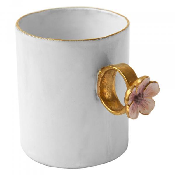 Astier De Villatte Pink Flower Ring Cup