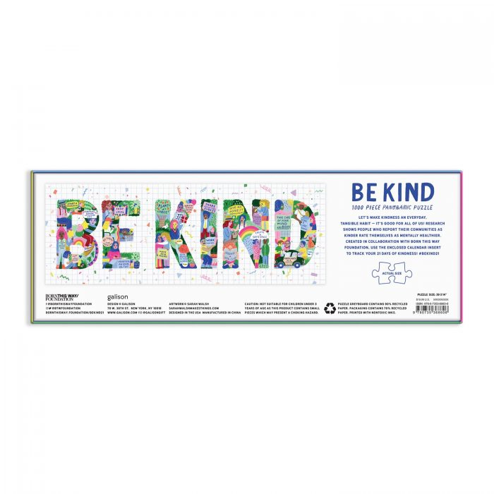 Be Kind 1000 Piece Panoramic Jigsaw Puzzle