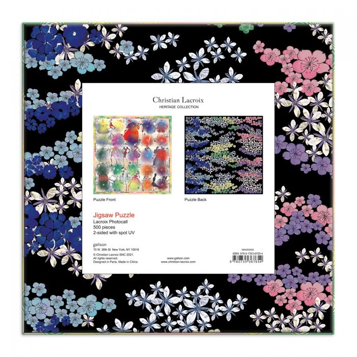 Christian Lacroix Heritage Collection Lacroix Photocall Double-Sided 500 Piece Puzzle