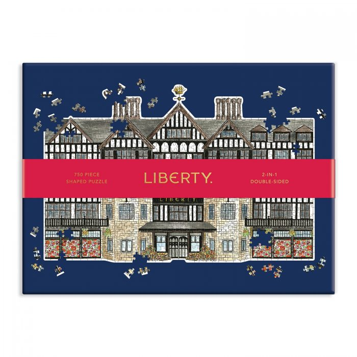 Liberty London Tudor Building 750 Piece Shaped Puzzle