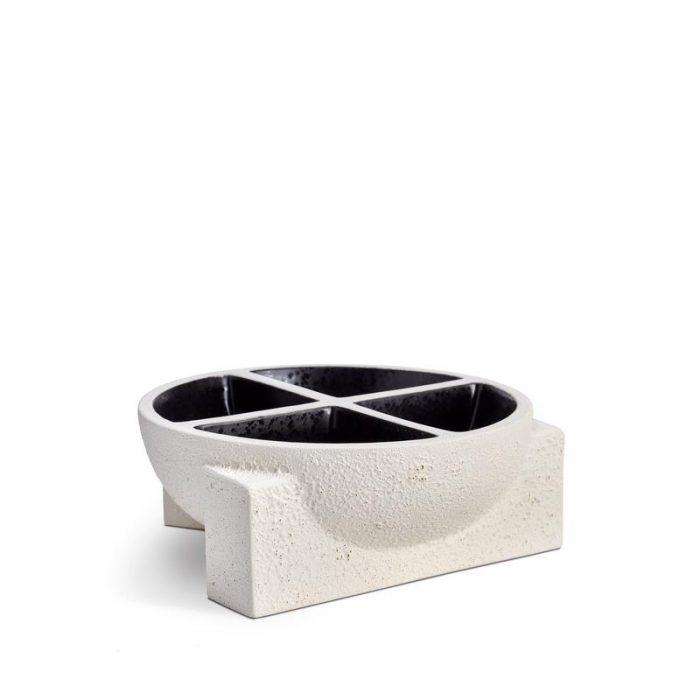 L'Objet Cubisme Condiment Server - 4 Sections