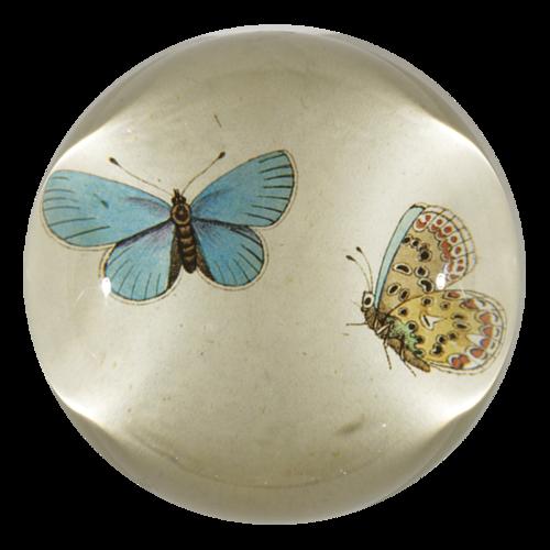 John Derian - Blue Butterflies Dome Paperweight