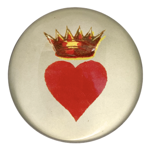 John Derian - Crowned Heart Dome Paperweight