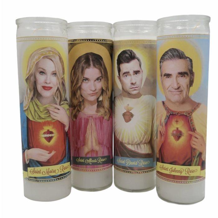 Schitts Creek Cast Devotional Prayer Saint Candles