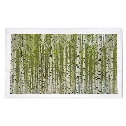 Birch Green 22.5x14.5 Acrylic Tray