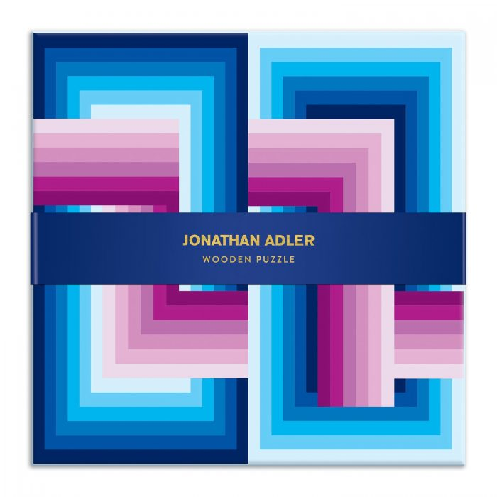 Jonathan Adler Infinity Wooden 22 Piece Jigsaw Puzzle Set