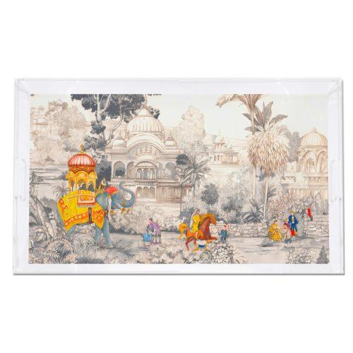 India Scene Spectacular 22.5x14.5 Acrylic Tray