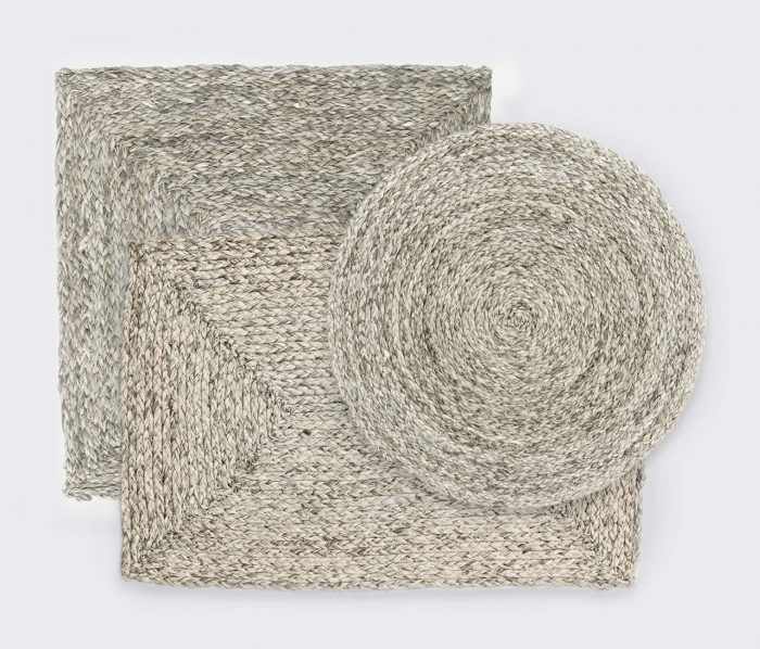 Zoey Mixed Gray Placemat - Set of 2