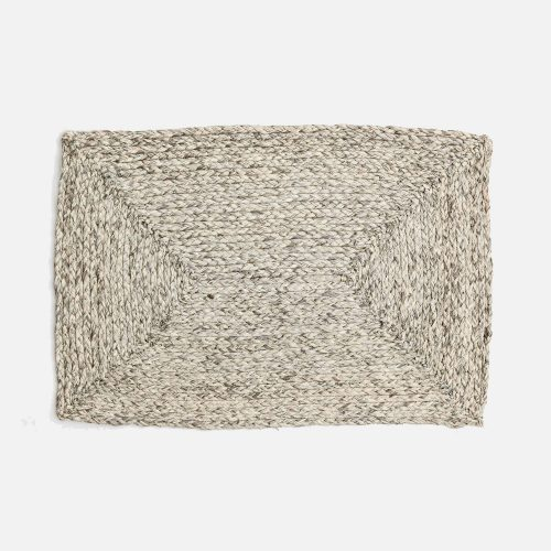 Zoey Mixed Gray Rectangle Placemat - Set of 2