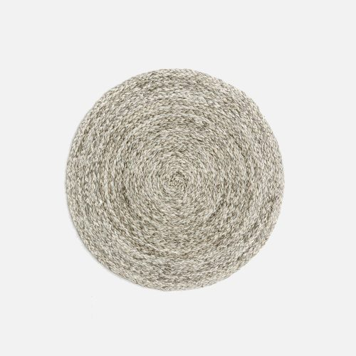 Zoey Mixed Gray Round Placemat - Set of 2