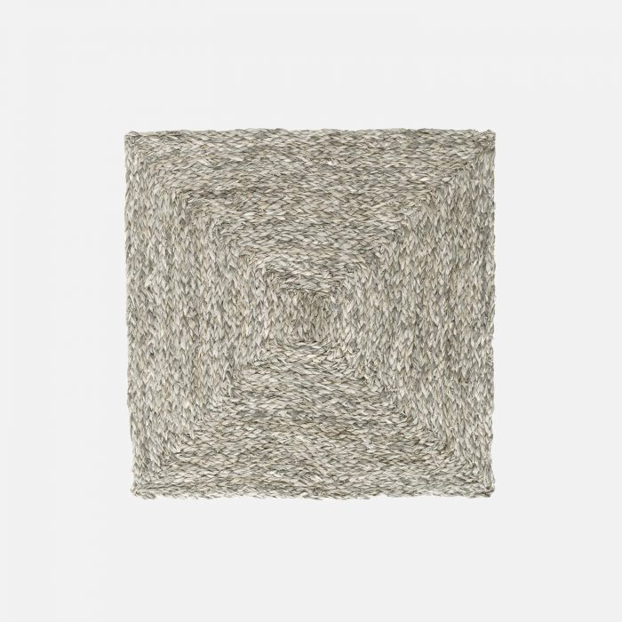 Zoey Mixed Gray Square Placemat - Set of 2