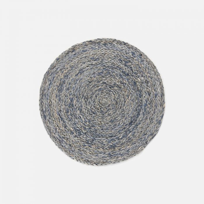 Zoey Slate Blue Round Placemat - Set of 2