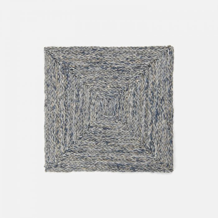 Zoey Slate Blue Square Placemat - Set of 2