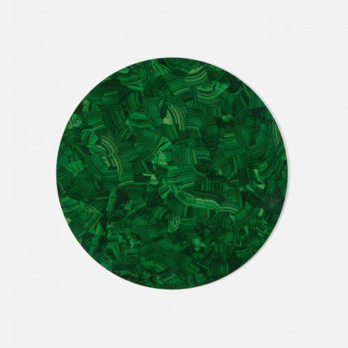 Jonathan Faux Malachite Round Placemat - Set of 2