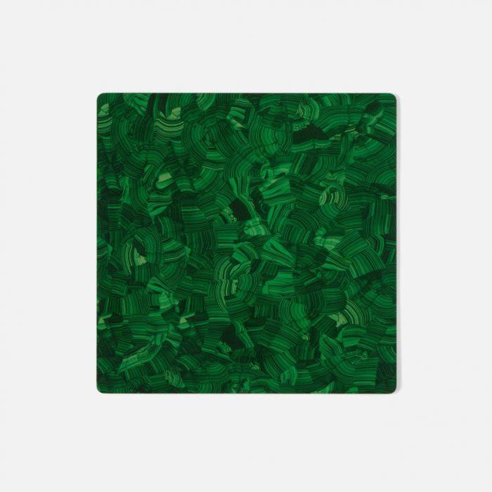 Jonathan Faux Malachite Square Placemat - Set of 2