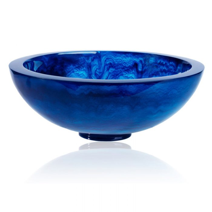 "Lily Juliet Remy Bowl Navy Blue - 11.5"""