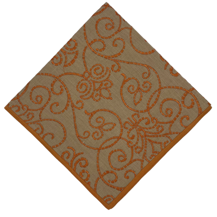 Brocade Amber Napkin - Set of 2