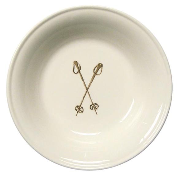 "Chehoma Ascentielle Dinnerware Bowl Large Ski Poles-8""w x 1.68""h"