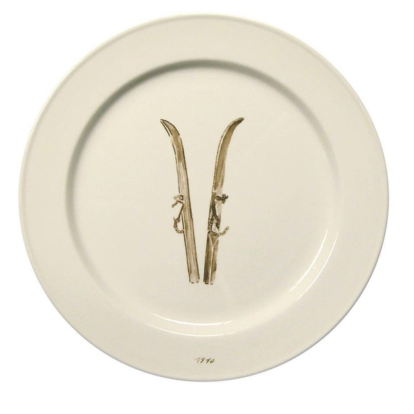 Chehoma Ceramic Dinner Plate Ski Large