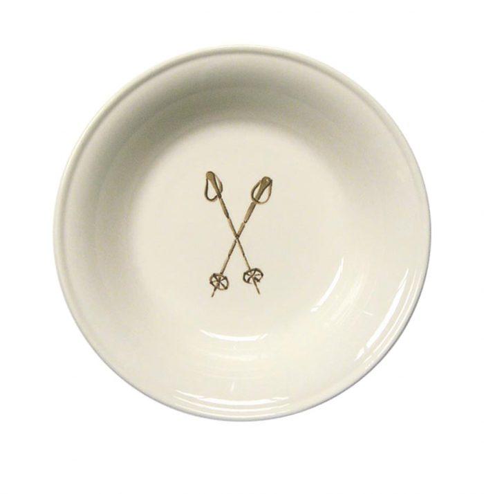 """Chehoma Ascentielle Dinnerware Bowl Small Ski Pole-6.63""""w x 1.37""""h"""